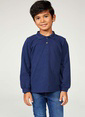 DeFacto Uzun Kollu Polo T-shirt Lacivert